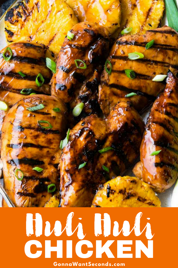 Our easyHuli Huli Chicken is a delicious combination of Hawaiian inspired flavors of sweet, savory, and spicy marinade that will delight your taste buds. #HuliHuli #Chicken #Hawaii #Hawaiian #Pineapple #Grilled #Recipe #Dinners #Crockpot #Marinade #Healthy #Thighs #Breast #Easy #Sauce #Meals #Stovetop #ForACrowd #Salad #Dinner #WithRice #BrownSugar #Families #MacaroniSalads