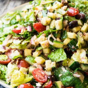 A plateful of Mediterranean Salad