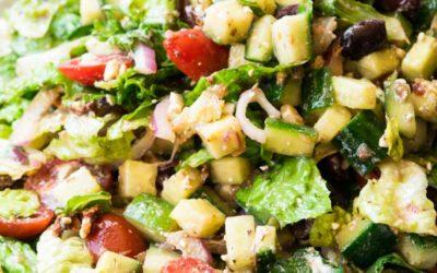 Easy Mediterranean Salad Recipe- Elegant, Refreshing and Delicious!