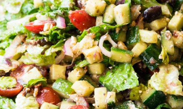 Easy Mediterranean Salad Recipe- Elegant, Refreshing and Delicious!