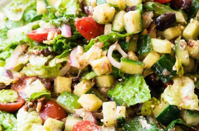 A plateful of Mediterranean Salad
