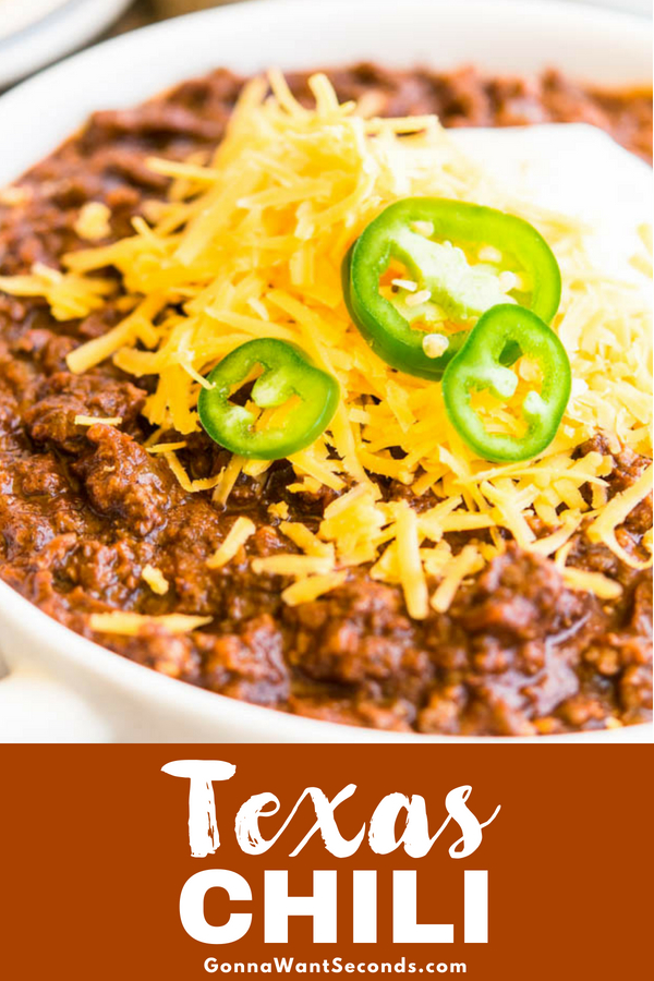 Our authentic Texas Chili recipe is beefy, thick, spicy and smokey. This