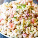 Tuna Pasta Salad in a bowl