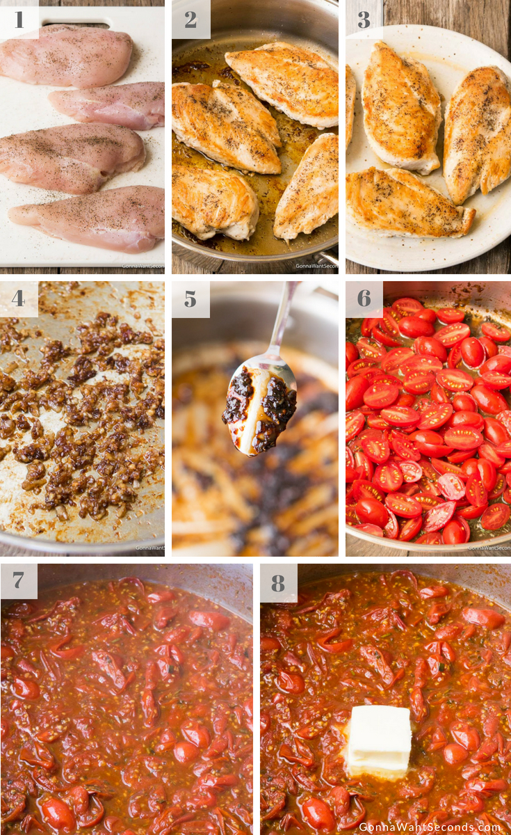 Step by Step How To Make Balsamic Chicken