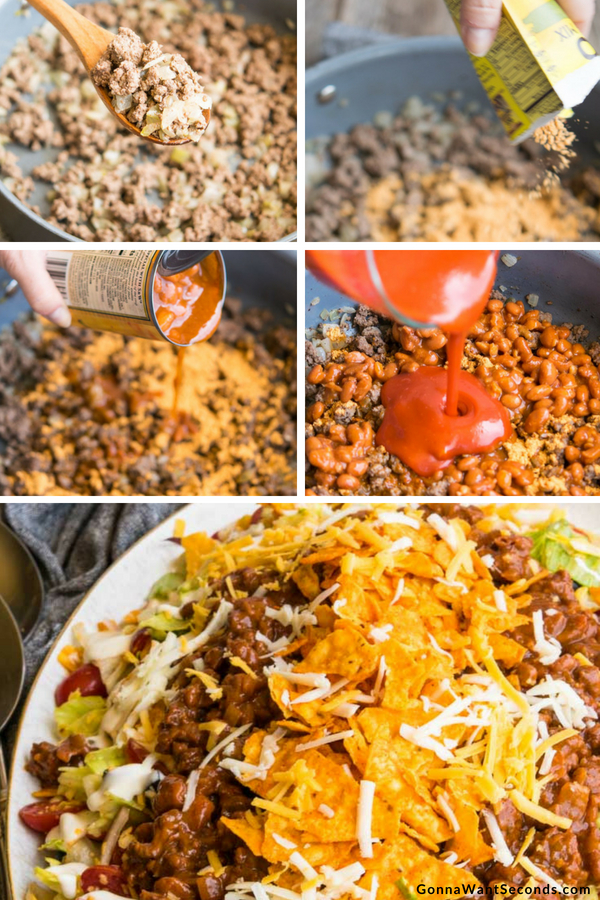 Step By Step How To Make Dorito Taco Salad