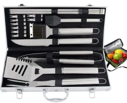 24 Best Christmas Gifts For Your Hubby Heavy Duty BBQ Grill Tool Set With Cooler Bag
