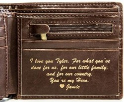 24 Best Christmas Gifts For Your Hubby Personalized Mens Wallet