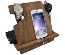 24 Best Christmas Gifts For Your Hubby Wood Phone Docking Station