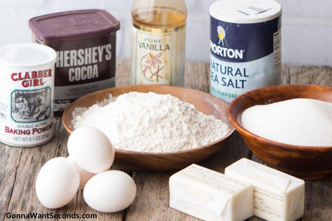 How to make Brookies, prepared ingredients for brownie mix
