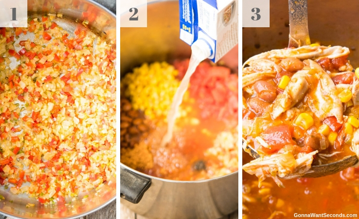 Step By Step How To Make Chicken Taco Soup