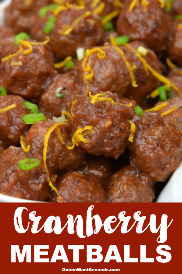 Warm and wintery, tender and tasty, cranberry meatballs scream holiday dinner party. But.. they're just too good to limit yourself so serve them anytime! #CranberryMeatballs #Cranberry