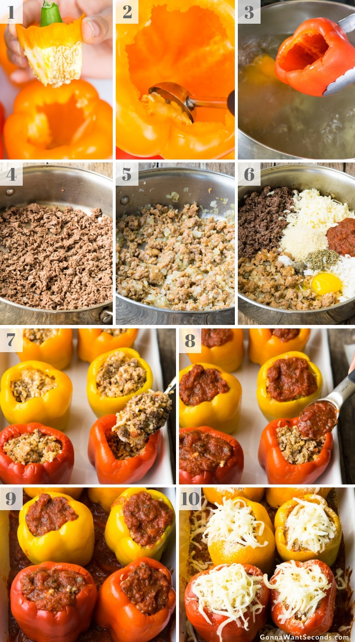 Step By Step How To Make Italian Stuffed Peppers