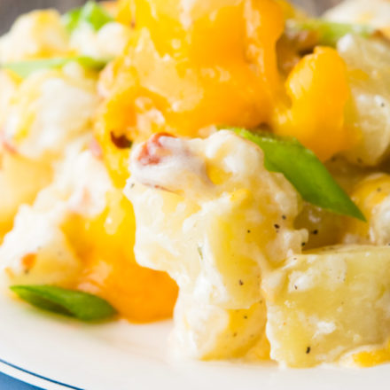 Ranch Potatoes on a plate