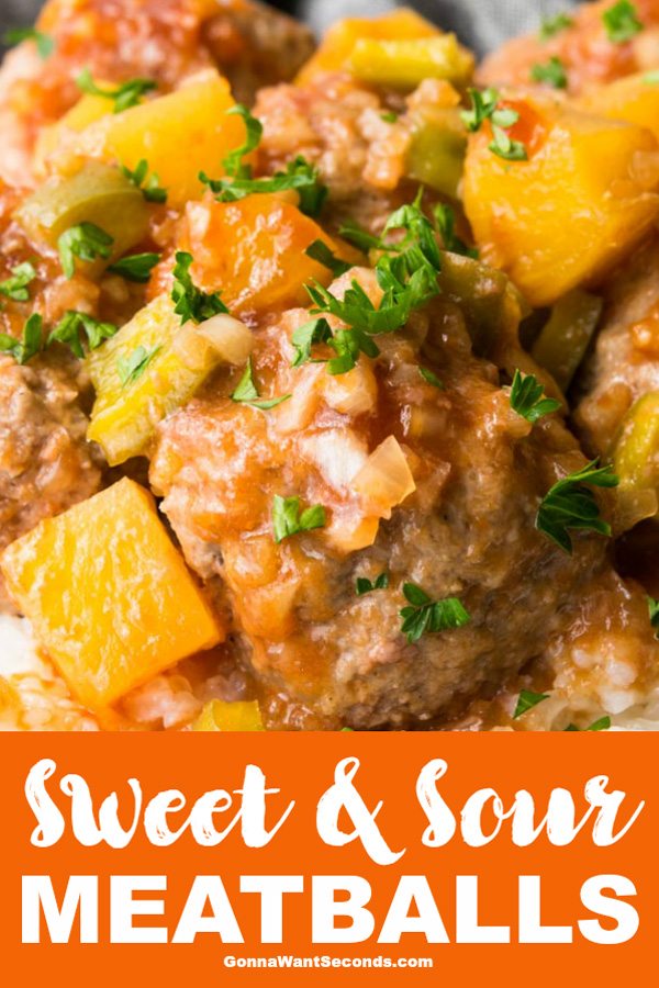 Our recipe for Sweet and Sour meatballs is the perfect mix of peppy sour spice and warm sweetness. A fantastic meal for any night of the week! #SweetandSour #Meatballs #Easy #Oven #Baked #Healthy #WithPineapple #Homemade #Recipe #Sauce #FromScratch #Dinner #FreezerMeal #WithKetchup #ForACrowd #BrownSugar #GroundBeef #WhatToServe #Bellpepper #Casserole