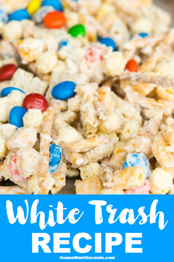 Our White Trash Recipe is Crazy Delicious and incredibly addictive! It's the perfect mix of creamy, crunchy, sweet and salty! Makes a great holiday gift♥ #WhiteTrashRecipe #Christmas