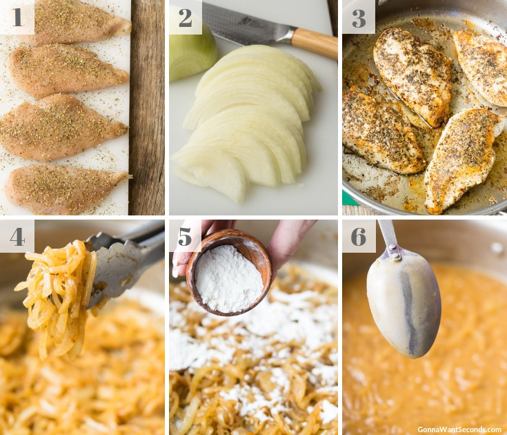 Step By Step How To Make French Onion Chicken