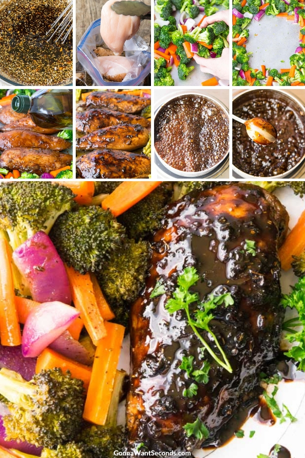 Step By Step How To Make Honey Balsamic Sheet Pan Chicken