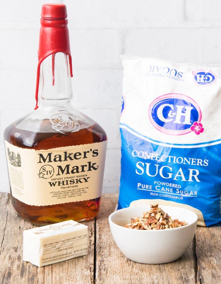 Prepared Ingredients for Bourbon Balls
