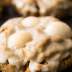 Lebkuchen cookies on a baking pan
