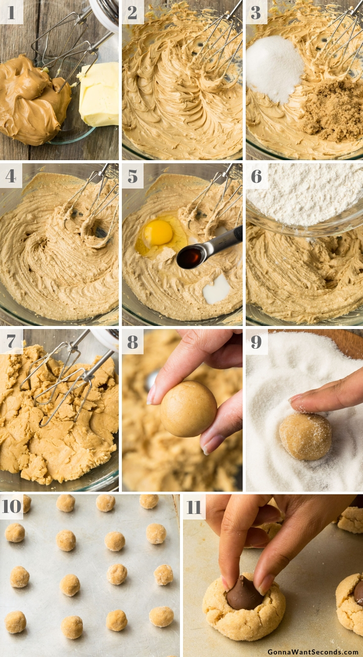 Step By Step How To Make Peanut Butter Blossoms