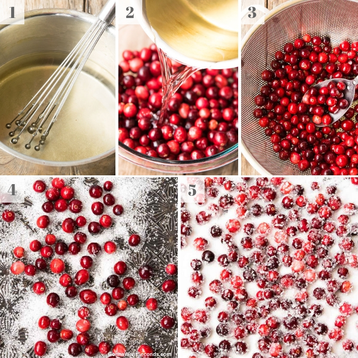 Step By Step How To Make Sugared Cranberries