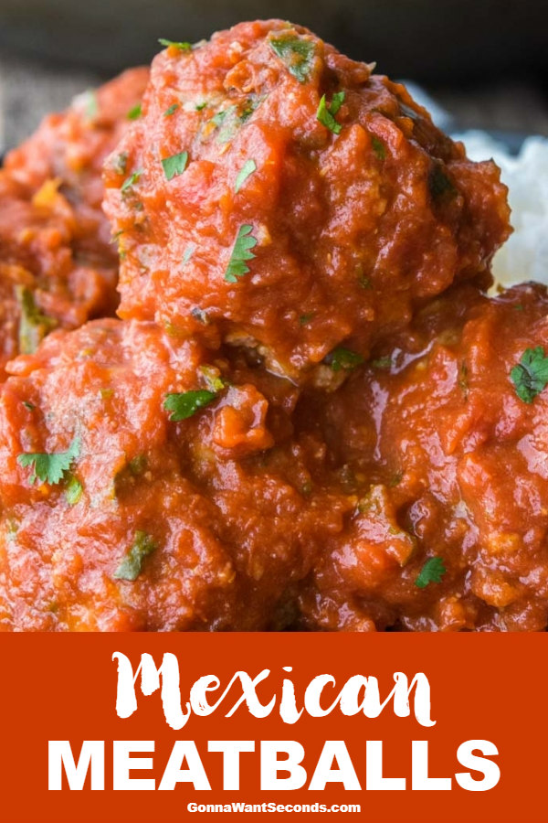 My recipe for Mexican Meatballs is the perfect appetizer for any get together. Super delicious, and simple... they're certain to be a hit! #gonnawantseconds #mexicanmeatballs #mexicanfoodrecipes #meatballs #meatballrecipe #appetizer #albondigas #cocktailmeatballs #comfortfood #sundaysupper #gamedayappetizers