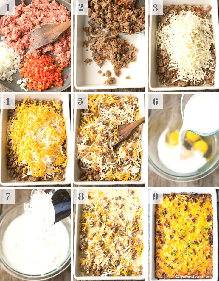 Step By Step How To Make Bisquick Breakfast Casserole