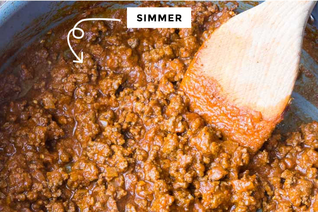 How to make Taco Meat recipe, simmering