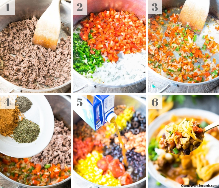 Step By Step How To Make Taco Soup