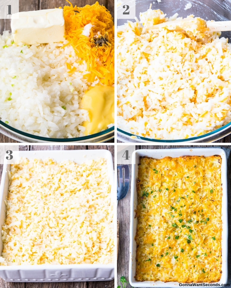 Step By Step How To Make Hashbrown Casserole