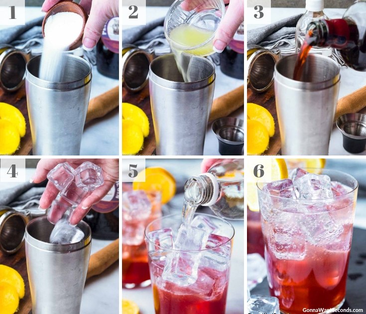 Step By Step How To Make Sloe Gin Fizz