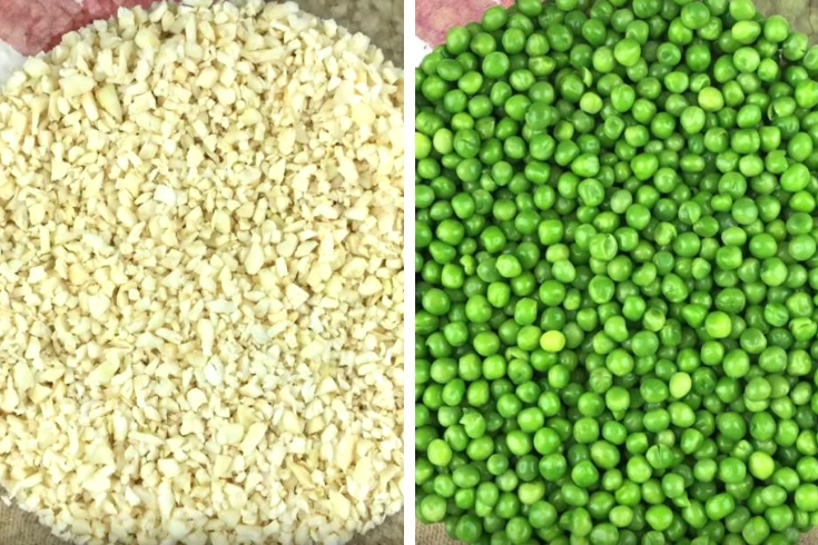 Cauliflower Rice and green peas