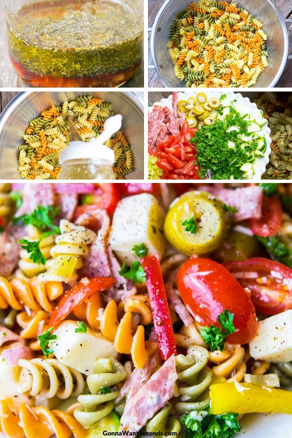 Pasta Salad on a plate, close up