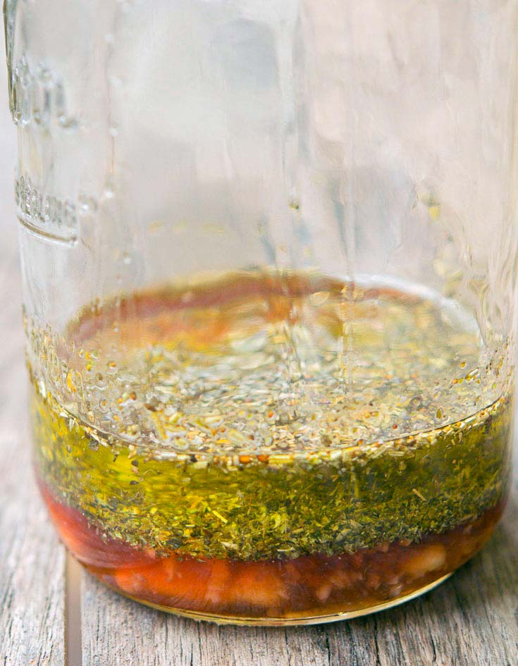 Salad Dressing in a mason jar