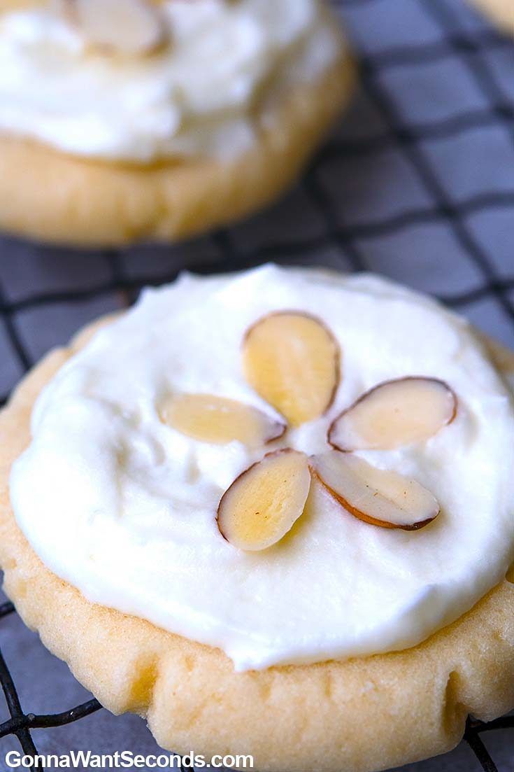 Almond Cookies on baking sheet