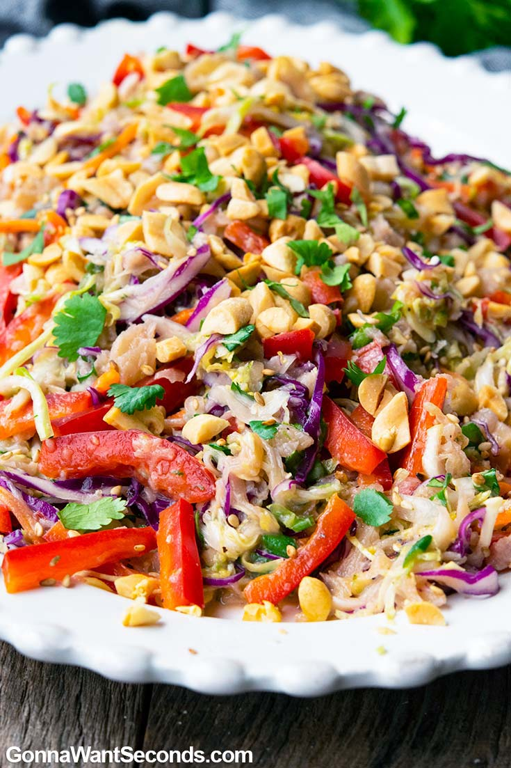 Asian Coleslaw on a plate