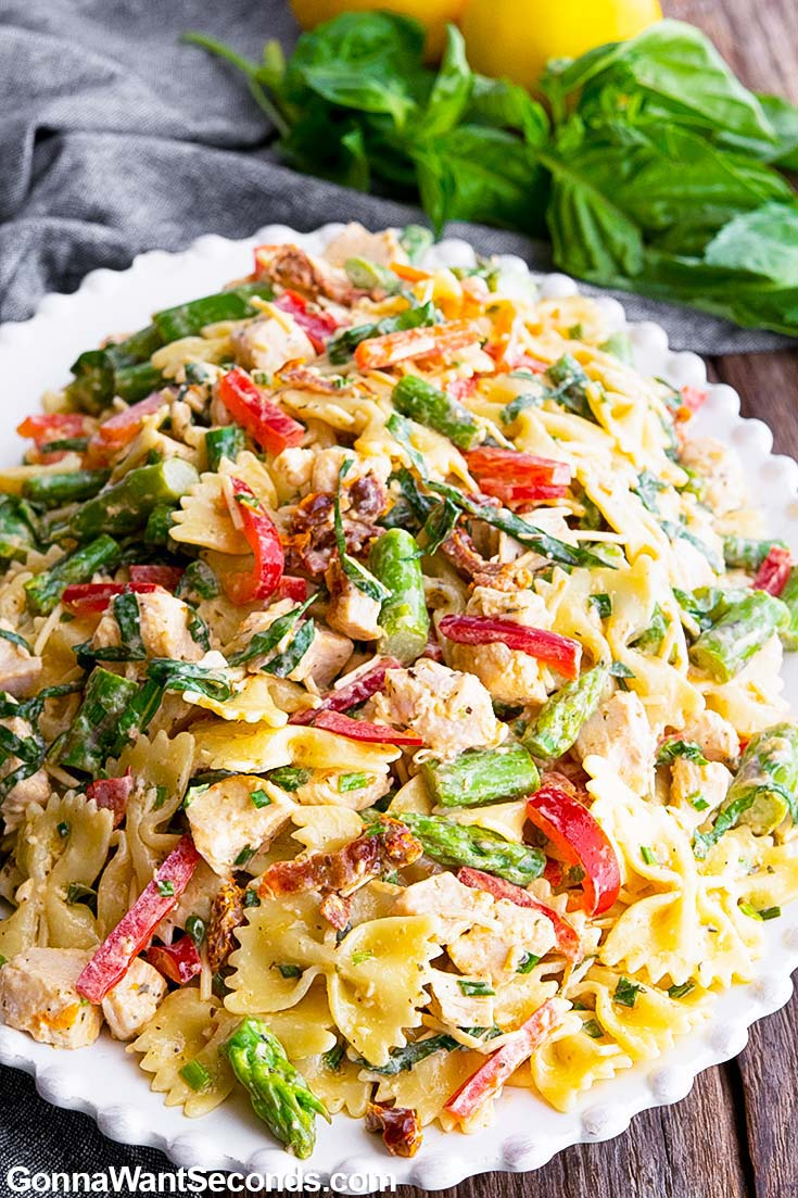 Chicken Pasta Salad on a plate