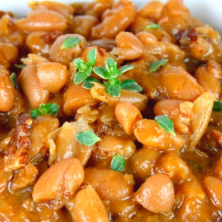 BBQ Baked Beans in a bowl