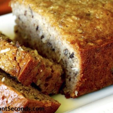 Sliced Moist Banana Bread