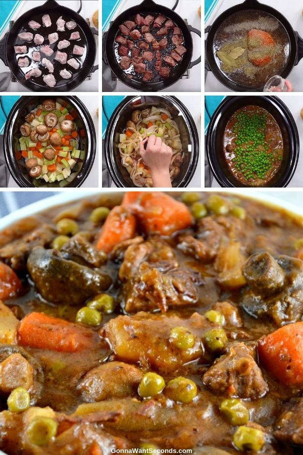 This crowd-pleasing recipe for crock pot beef stew with vegetables is a simple dish full of rich, complex flavors and plenty of vegetables you'll feel great about serving! #crockpotbeefstew #CrockpotRecipes #BeefStew #Stews #ComfortingMeals #slowcookerbeefstew #easybeefstew #slowcooker