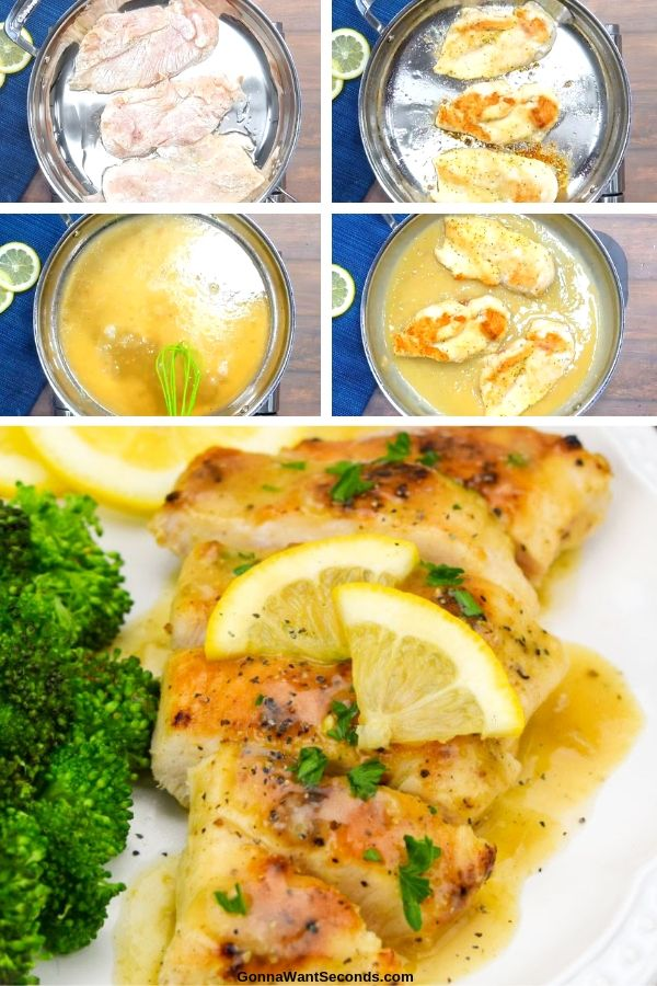My light and crispy Lemon Pepper Chicken – with a peppery, creamy lemon sauce that transforms your table into an elegant French dining room in < 30 minutes. #LemonPepperChicken #ChickenRecipes #OnePanMeals #30minuteMeals #OnePanRecipes #EasyChickenRecipes #EasyRecipes #DinnerRecipes