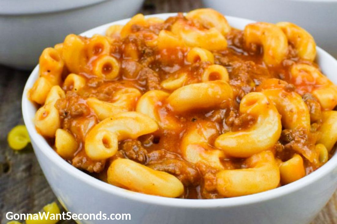 Beefaroni in a bowl