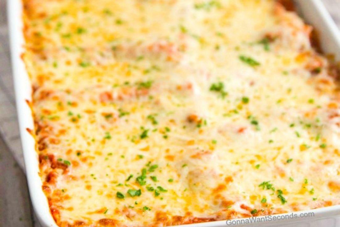 A whole Cannelloni Casserole dish