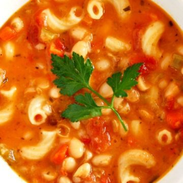 Pasta Fagioli Soup in a bowl
