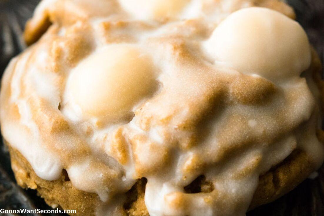 Lebkuchen cookies close up