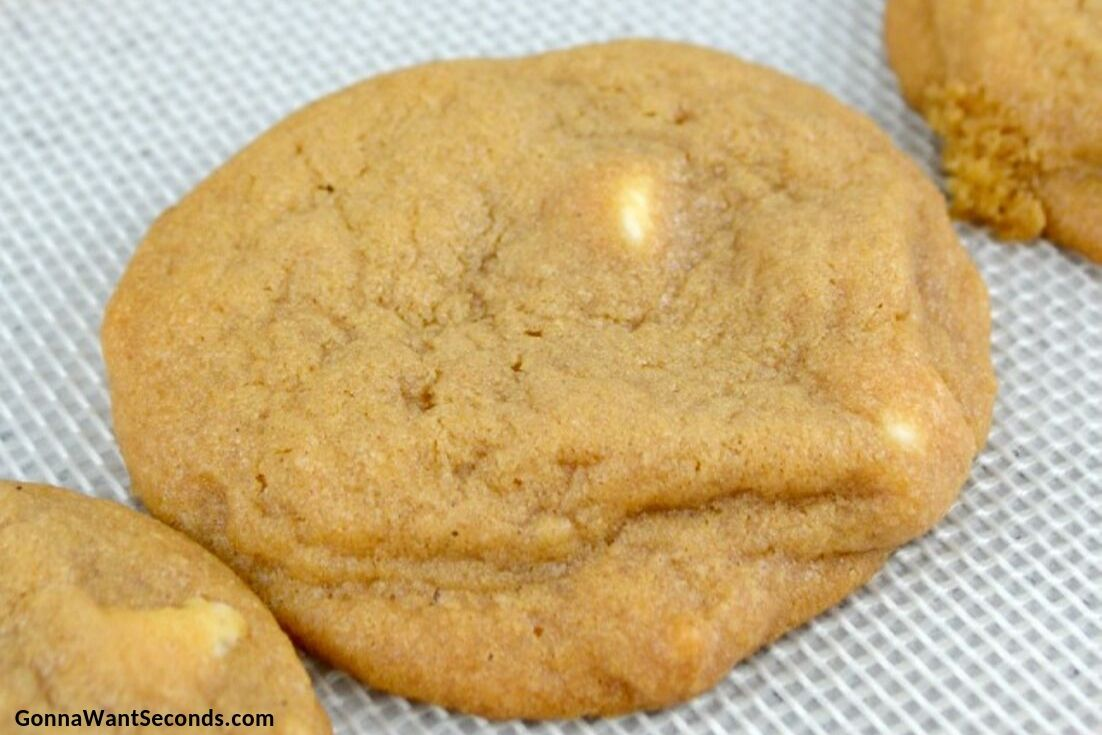 Pumpkin Spice Cookies on a baking sheet