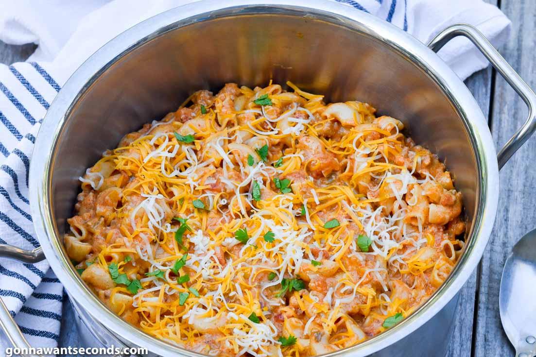 taco pasta in a pot