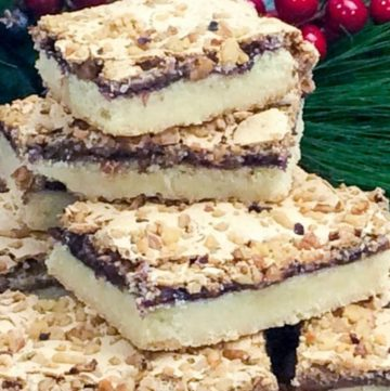 Yugoslavian Christmas Cookies piled on top of each other