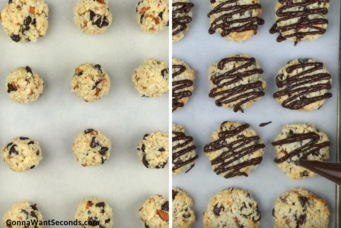 Step by step how to make Almond Joy Cookies