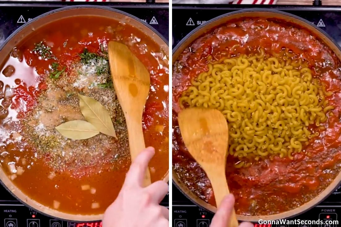 Step by step how to make American Goulash
